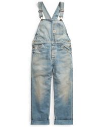 RRL - Striped Cotton Denim Overall - Lyst