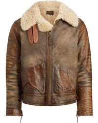 Polo Ralph Lauren - Shearling Bomber Jacket - Lyst