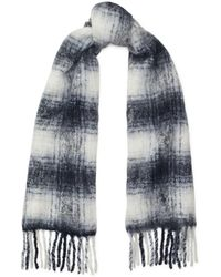 Polo Ralph Lauren - Plaid Fringe Wool Scarf - Lyst