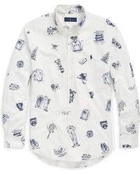 Pink Pony - Classic Fit Print Oxford Shirt - Lyst