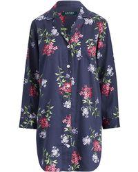 Ralph Lauren - Floral Sleep Shirt - Lyst eb4a08f2b