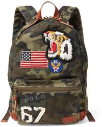 551f1f64a0ff Lyst - Polo Ralph Lauren Camo-print Military Backpack in Brown for Men
