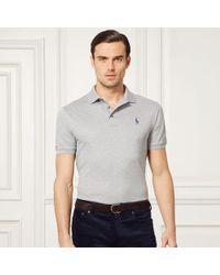 Ralph Lauren Purple Label | Custom-fit Piqué Polo Shirt | Lyst