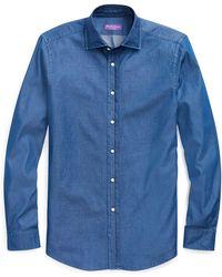 Ralph Lauren Purple Label - Chambray Shirt - Lyst