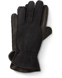 434654380664f Polo Ralph Lauren Leather Touch Screen Gloves in Brown for Men - Lyst