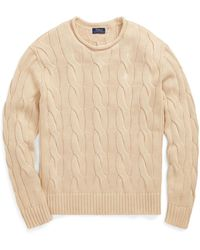 Polo Ralph Lauren - Boxy Cable Cotton Sweater - Lyst