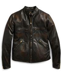 404d01b177d2b Veste bomber en cuir Rick Owens pour homme en coloris Noir - Lyst