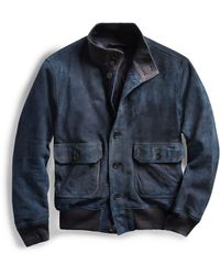 ec88772601 Lyst - RRL Denim Mechanic Chore Jacket in Blue for Men