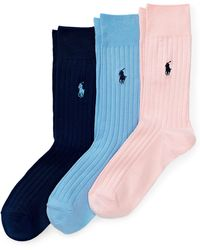 Polo Ralph Lauren - Ribbed Crew Sock 3-pack - Lyst