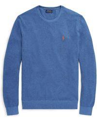 Polo Ralph Lauren - Textured-knit Cotton Sweater - Lyst
