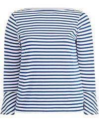 c83c7b04d10 Lyst - Ralph Lauren Blouson-sleeve Cotton Shirt in White