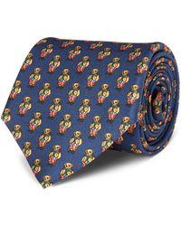 Polo Ralph Lauren - Polo Bear Silk Narrow Tie - Lyst