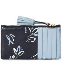 0e16cf5ecc Ralph Lauren - Floral Calfskin Card Case - Lyst