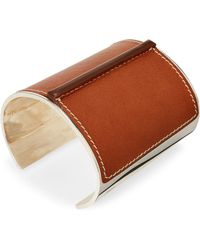 Ralph Lauren - Leather-silver Cuff - Lyst