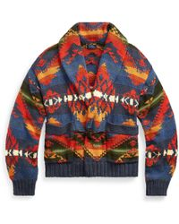 Polo Ralph Lauren - Flag Geometric Shawl Cardigan - Lyst