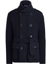Ralph Lauren Purple Label - Knit Wool-cashmere Jacket - Lyst