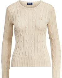 Polo Ralph Lauren - Cable-knit Crewneck Sweater - Lyst