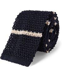 Polo Ralph Lauren - Oars Knit Silk Narrow Tie - Lyst