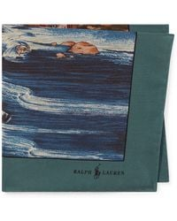 Polo Ralph Lauren - Scenic Silk Pocket Square - Lyst