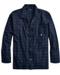 Polo Ralph Lauren - Windowpane Cotton Pajama Shirt - Lyst
