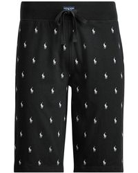 Polo Ralph Lauren - Allover Pony Slim Sleep Short - Lyst