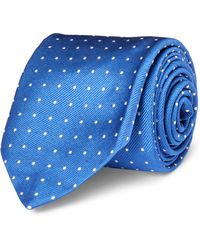 Polo Ralph Lauren - Polka-dot Silk Repp Narrow Tie - Lyst