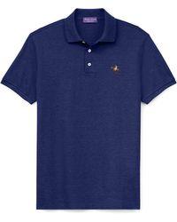 Ralph Lauren Purple Label - Custom Slim Fit Piqué Polo - Lyst