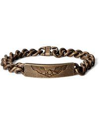 RRL - Brass Id Bracelet - Lyst