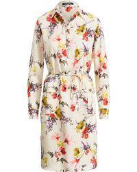 Lauren by Ralph Lauren - Floral Twill Utility Dress - Lyst