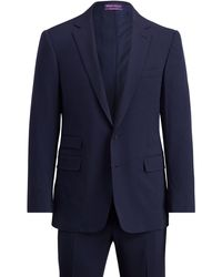 Ralph Lauren Purple Label | Slim Fit Wool Gabardine Suit | Lyst
