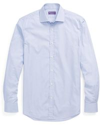 88f6e14234 Ralph Lauren Purple Label Glen Plaid Twill Shirt in Gray for Men - Lyst