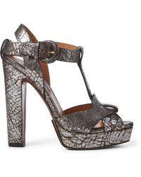 Ralph Lauren - Kerrey Leather T-strap Sandal - Lyst