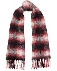 75adab8a066d Polo Ralph Lauren - Écharpe en laine à motif écossais à franges - Lyst