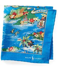 Polo Ralph Lauren - Hawaiian Silk Pocket Square - Lyst