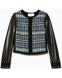 Ramy Brook - Alanza Tweed & Leather Jacket - Lyst
