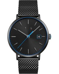 Rebecca Minkoff - Norrebro Black Tone Mesh Bracelet Watch, 40mm - Lyst