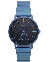 Rebecca Minkoff - Norrebro Blue Tone Bracelet Watch, 40mm - Lyst