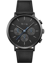 Rebecca Minkoff - Griffith Black Tone Leather Watch, 43mm - Lyst