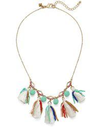 Rebecca Minkoff - Geo Multi Tassel Short Necklace - Lyst