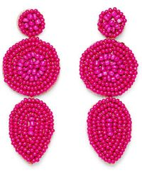 Rebecca Minkoff Linear Beaded Disc Earrings EmPGfrQCB