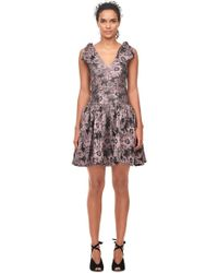 Rebecca Taylor - Floral Jacquard Bow Dress - Lyst