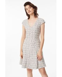 Rebecca Taylor - Speckled Tweed Dress Grey, Size 10 - Lyst