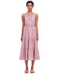 Lyst - Rebecca Taylor La Vie Meadow Floral Dress in Pink
