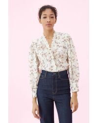 Rebecca Taylor - Kyla Embroidered Floral Top - Lyst