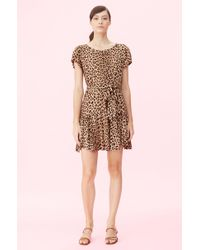 Rebecca Taylor - Belted Leopard - Print Dress - Lyst