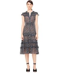 Rebecca Taylor - Zelma Floral Clip Ruffled Dress - Lyst