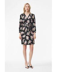 Rebecca Taylor - Long-sleeve Bouquet Silk Short Dress - Lyst