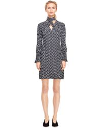 Rebecca Taylor - Rue Floral Print Scarf Tie Dress - Lyst