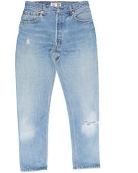 RE/DONE - High Rise Ankle Crop - Lyst