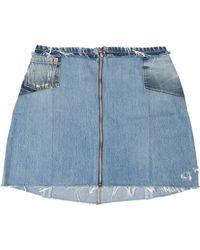 RE/DONE - Raw Edge Mini Skirt - Lyst